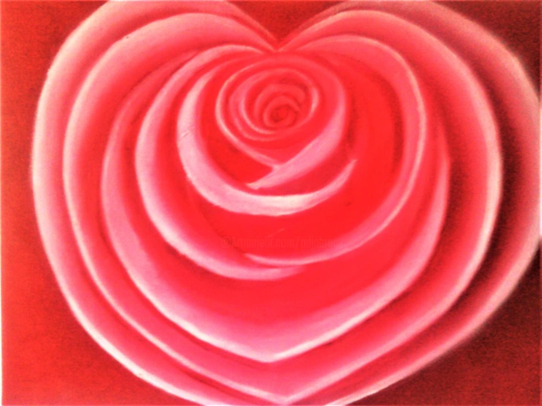 Sylvia Adjabroux - Rose en coeur
